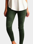 Forestgreen Elasticity Bodycon High-waisted Pants