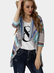 Multi-color Asymmetric Fashion Cardigan