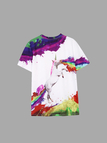 Colours Horse Pattern Round Neck T-shirts