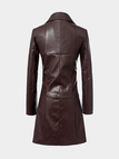 Leather Look Longline Jacket