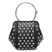 Black Rivet Embellished Mini Handbag