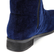 Blue Velvet Lace-up Design Over the Knee Boots