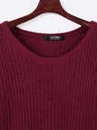 Bourgogne Casual Knitted Jumper Ronde