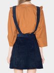 Suspender Button Front A-line Skirt