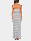 Stripe High Split Maxi Dress