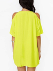Yellow Cold Shoulder Mini Dress