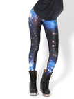 Blue Galaxy Print Leggings