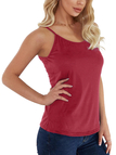 Red Scoop Neck Criss-cross Design Sports Vests