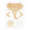 Elefanten-Blumenmuster Metallic Temporary Body Tattoo Sticker