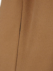 Collarless Armholes Cape in Light Tan