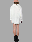 White Casual Roll Neck Raglan Jumper