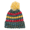 Cable Bobble Beanie in Color Block
