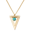 Double Triangle Long Necklace with Ball