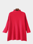 Oversized Drop-shoulder Sweater in Red