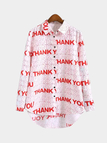 THANKYOU Print Long Sleeve Shirt