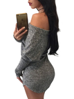 Grey One Shoulder Bodycon Mini Dress