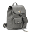 Two Front Pockets Backpack in Grey