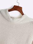 Apricot High Neck Pullover Loose Jumper