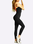 Black And Orange Fashion Stretch Cross Back Bodycon Sleeveless Maxi Jumpsuit