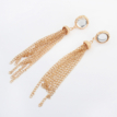 Gold-Tone Crystal Tassel Earrings