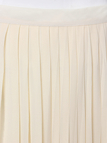 Beige Chiffon Pleated Maxi Skirt