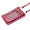 Red Fashion Snake Effected Purse Bag With Shoulder Strap
