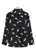 Swallow Printing Shirt with Long Sleeves