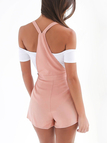 Casual Tie-Strap Playsuits in Pink