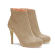Suede Heeled Ankle Boots in Apricot
