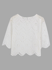 T-shirt brodé En coupe Lace