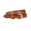 Brown Vintage Embossed Leather Belt