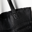 Black Pleated Design Drawstring Shoulder Bag