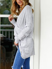 Grey Crossed Front Bat Sleeves Loose Jumper