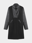 Loneline Tailored Duster Coat with PU Sleeves