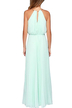 Sleeveless Back Cut Out Halter Maxi Dress in Light Blue