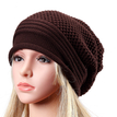 Coffee Knitted Causal Folded Design Hat