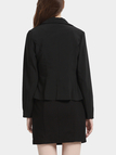 Fashion Black One Button Closure Blazer