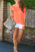 Back Cut Out Knitted Top in Orange