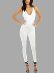 White Bodycon Cami Jumpsuit