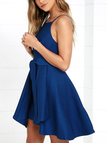 Layered Details Sleeveless Mini Dress with Zip Back Fasteing