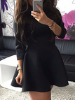 Black Ladies Style Tight-waist Mini Dress