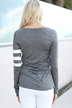 Grey Patch Pocket Long Sleeve Jersey Top