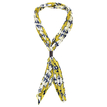 Geo Pattern Pleated Lightweight Scarf in Yellow