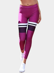 Active Contrast Color Quick Drying Gym Leggings in Purple