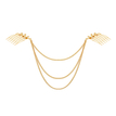 Golden Willow Leaves And Chain Hair Accessory