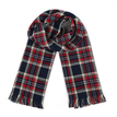 Red Checked Print Double Sided Scarf