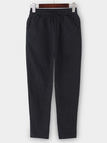 Black High-rise Two Side Pockets Drainpipe Jeans