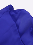 Royal Blue V-neck Cold Shoulder Chiffon Dress