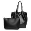Black Fashion Shoulder Bag with Small Bag