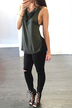 Strappy Back Jersey Cami Top